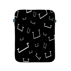 Pit White Black Sign Pattern Apple Ipad 2/3/4 Protective Soft Cases