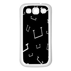 Pit White Black Sign Pattern Samsung Galaxy S3 Back Case (white)