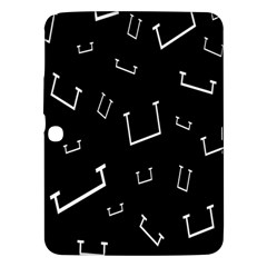 Pit White Black Sign Pattern Samsung Galaxy Tab 3 (10 1 ) P5200 Hardshell Case