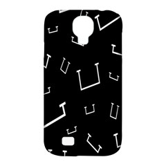 Pit White Black Sign Pattern Samsung Galaxy S4 Classic Hardshell Case (pc+silicone)