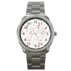 Musical Scales Note Sport Metal Watch