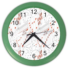 Musical Scales Note Color Wall Clocks