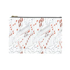 Musical Scales Note Cosmetic Bag (large)