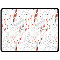 Musical Scales Note Fleece Blanket (large)