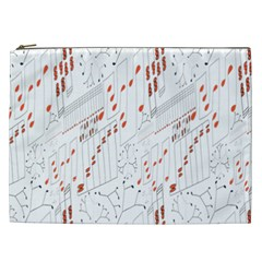Musical Scales Note Cosmetic Bag (xxl)