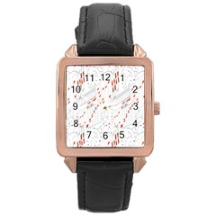 Musical Scales Note Rose Gold Leather Watch