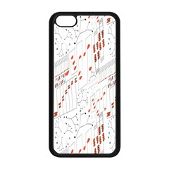 Musical Scales Note Apple Iphone 5c Seamless Case (black)