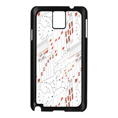 Musical Scales Note Samsung Galaxy Note 3 N9005 Case (black)