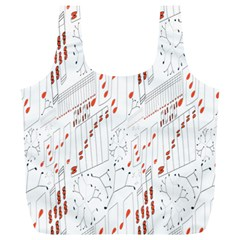 Musical Scales Note Full Print Recycle Bags (l)