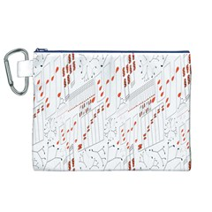 Musical Scales Note Canvas Cosmetic Bag (xl)