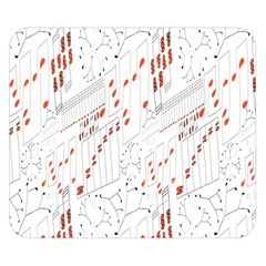 Musical Scales Note Double Sided Flano Blanket (small)