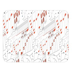 Musical Scales Note Double Sided Flano Blanket (large)