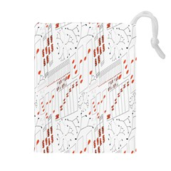 Musical Scales Note Drawstring Pouches (extra Large)