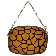 Skin1 Black Marble & Yellow Grunge (r) Chain Purses (two Sides)