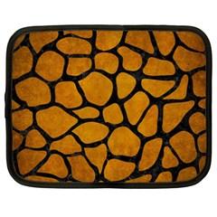 Skin1 Black Marble & Yellow Grunge (r) Netbook Case (xxl)