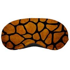 Skin1 Black Marble & Yellow Grunge (r) Sleeping Masks