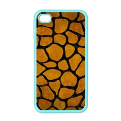 Skin1 Black Marble & Yellow Grunge (r) Apple Iphone 4 Case (color)