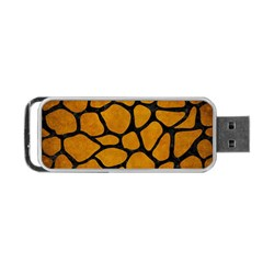Skin1 Black Marble & Yellow Grunge (r) Portable Usb Flash (two Sides)