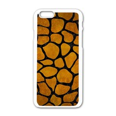 Skin1 Black Marble & Yellow Grunge (r) Apple Iphone 6/6s White Enamel Case