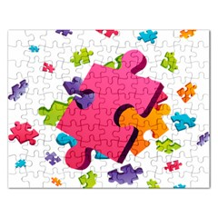 Passel Picture Green Pink Blue Sexy Game Rectangular Jigsaw Puzzl