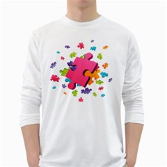 Passel Picture Green Pink Blue Sexy Game White Long Sleeve T Shirts
