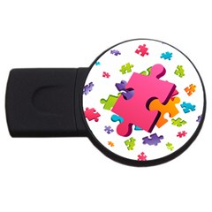 Passel Picture Green Pink Blue Sexy Game Usb Flash Drive Round (4 Gb)