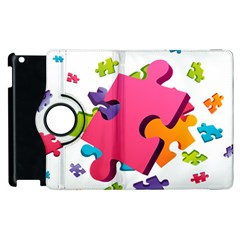 Passel Picture Green Pink Blue Sexy Game Apple Ipad 3/4 Flip 360 Case