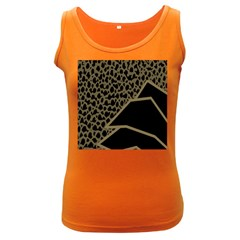 Polka Spot Grey Black Women s Dark Tank Top
