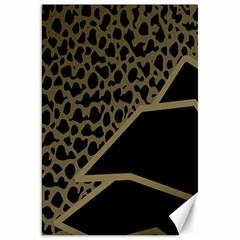 Polka Spot Grey Black Canvas 20  X 30