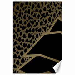 Polka Spot Grey Black Canvas 24  X 36