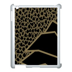 Polka Spot Grey Black Apple Ipad 3/4 Case (white)