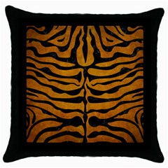 Skin2 Black Marble & Yellow Grunge Throw Pillow Case (black)