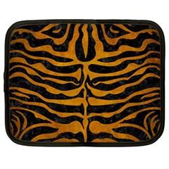 Skin2 Black Marble & Yellow Grunge (r) Netbook Case (large)