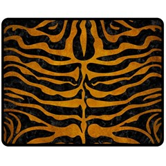 Skin2 Black Marble & Yellow Grunge (r) Fleece Blanket (medium)