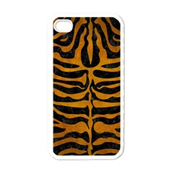 Skin2 Black Marble & Yellow Grunge (r) Apple Iphone 4 Case (white)
