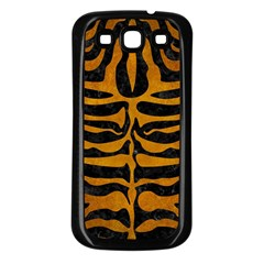 Skin2 Black Marble & Yellow Grunge (r) Samsung Galaxy S3 Back Case (black)