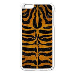 Skin2 Black Marble & Yellow Grunge (r) Apple Iphone 6 Plus/6s Plus Enamel White Case