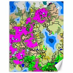 Painting Map Pink Green Blue Street Canvas 18  X 24
