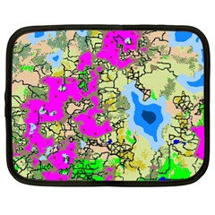Painting Map Pink Green Blue Street Netbook Case (xl)