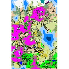 Painting Map Pink Green Blue Street 5 5  X 8 5  Notebooks
