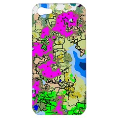 Painting Map Pink Green Blue Street Apple Iphone 5 Hardshell Case