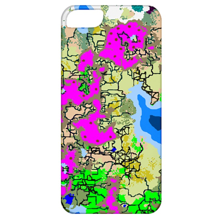 Painting Map Pink Green Blue Street Apple iPhone 5 Classic Hardshell Case