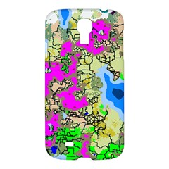 Painting Map Pink Green Blue Street Samsung Galaxy S4 I9500/i9505 Hardshell Case