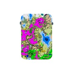 Painting Map Pink Green Blue Street Apple Ipad Mini Protective Soft Cases
