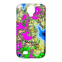 Painting Map Pink Green Blue Street Samsung Galaxy S4 Classic Hardshell Case (pc+silicone)
