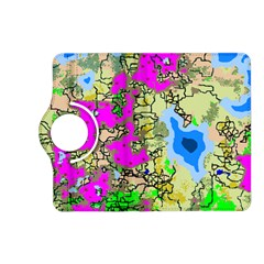 Painting Map Pink Green Blue Street Kindle Fire Hd (2013) Flip 360 Case