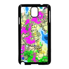 Painting Map Pink Green Blue Street Samsung Galaxy Note 3 Neo Hardshell Case (black)
