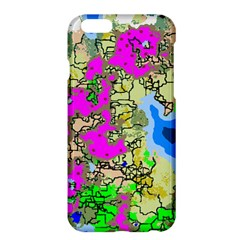 Painting Map Pink Green Blue Street Apple Iphone 6 Plus/6s Plus Hardshell Case