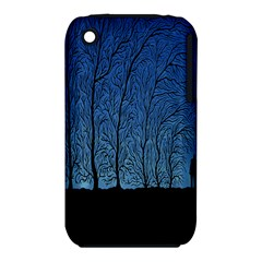 Forest Tree Night Blue Black Man Iphone 3s/3gs