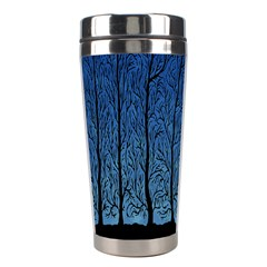 Forest Tree Night Blue Black Man Stainless Steel Travel Tumblers